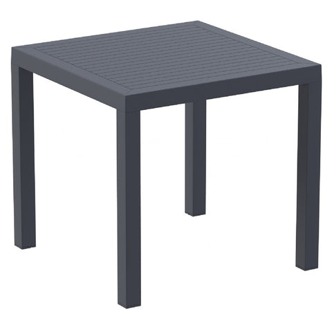 Compamia Ares Resin Square Dining Table Dark Gray 31 inch ISP164-DGR