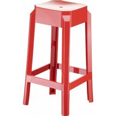 Compamia Fox Polycarbonate Counter Stool Glossy Red ISP036-GRED - YourBarStoolStore + Chairs, Tables and Outdoor  - 1