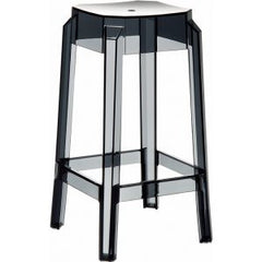 Compamia Fox Polycarbonate Counter Stool Transparent Black ISP036-TBLA - YourBarStoolStore + Chairs, Tables and Outdoor  - 1