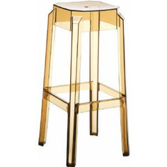 Compamia Fox Polycarbonate Bar Stool Transparent Amber ISP037-TAMB - YourBarStoolStore + Chairs, Tables and Outdoor  - 1