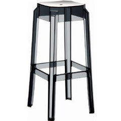 Compamia Fox Polycarbonate Bar Stool Transparent Black ISP037-TBLA - YourBarStoolStore + Chairs, Tables and Outdoor  - 1