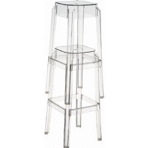Compamia Fox Polycarbonate Counter Stool Clear Transparent ISP036-TCL
