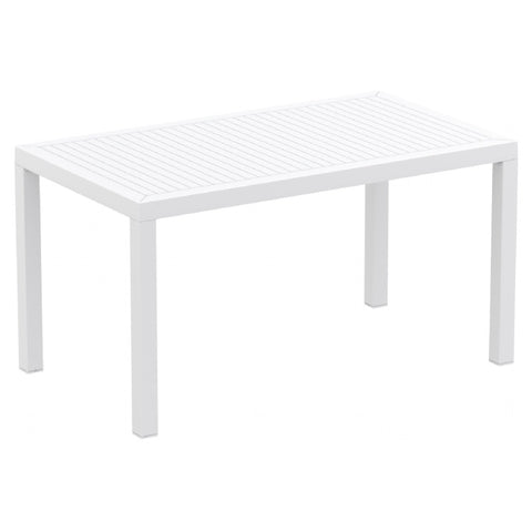 Compamia Ares Resin Rectangle Dining Table White 55 inch ISP186-WHI