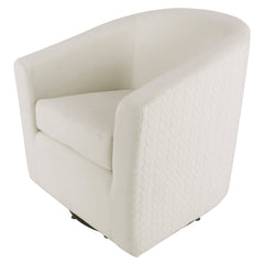 Hayden Fabric Swivel Chair - Bright Sand & Icy Leafage Beige