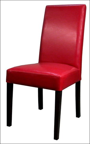 Hartford Leather Chair, Red