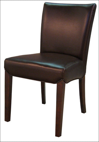 Beverly Hills Bonded Leather Chair, Coffee Bean