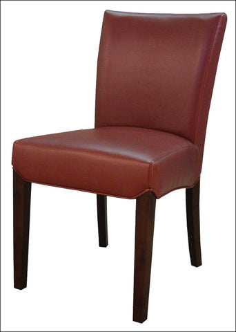 Beverly Hills Bonded Leather Chair, Pomegranate
