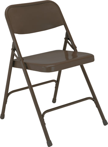 Brown Premium All-Steel Folding Chairs 203