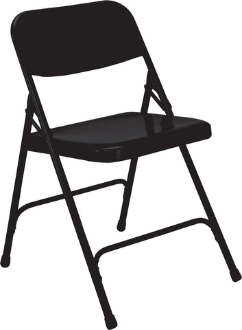Black Premium All-Steel Folding Chairs 210