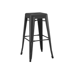 Dreux Matte Black Steel Stackable Counter Stool 26 Inch