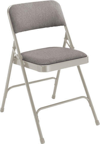 Grey on Grey Fabric Upholstered Premium Folding Chairs 2202