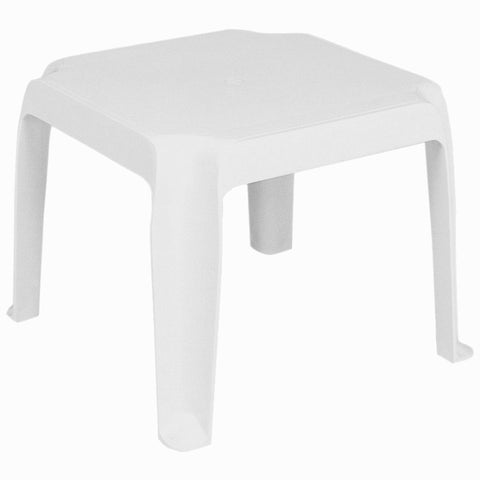 Compamia Sunray Resin Square Side Table White ISP240-WHI