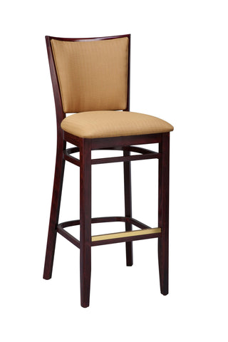 "Regal Seating 26"" Beechwood Lattice Back Stool-Standard Upholstered Seat And Back 2411usb"