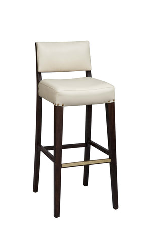 "Regal Seating 24"" Beechwood Solid Back Stool - Fully Upholstered Seat And Inside Back 2438usb"