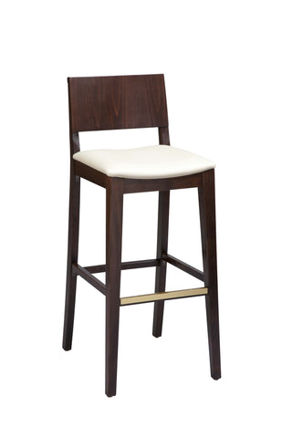 "Regal Seating 24"" Beechwood Solid Back Stool - Upholstered Seat 2438u"