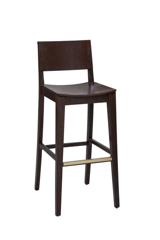 "Regal Seating 24"" Beechwood Solid Back Stool - Wood Seat 2438w"