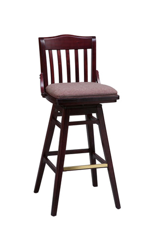 "Regal Seating 24"" Beechwood School House Swivel Stool - Upholstered Seat 2454u-swv"