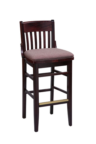 "Regal Seating 26"" Beechwood School House Stool-Upholstered Seat 2454u"