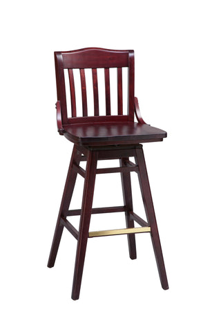 "Regal Seating 30"" Beechwood School House Swivel Stool - Wood Seat 2454w-swv"