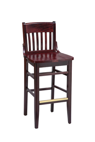 "Regal Seating 26"" Beechwood School House Stool-Wood Seat 2454w"