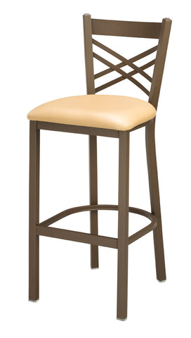 "Regal Seating 30"" Steel X Back Stool 2515"