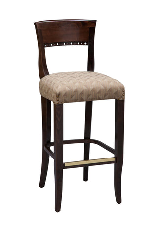 "Regal Seating 24"" Beechwood Beidermier Stool - Fully Upholstered Seat 2568fus"
