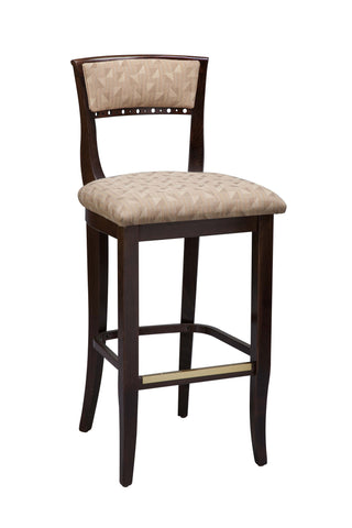 "Regal Seating 32"" Beechwood Beidermier Stool - Standard Upholstered Seat And Inside Back 2568usb"