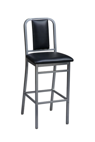 "Regal Seating 30"" Steel Metro Stool With Inside Upholstered Back 2575usb"