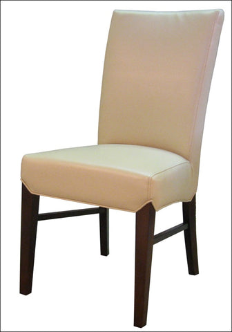 Milton Bonded Leather Chair, Cream