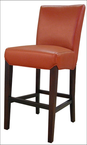 Milton Bonded Leather CTR Stool, Pumpkin