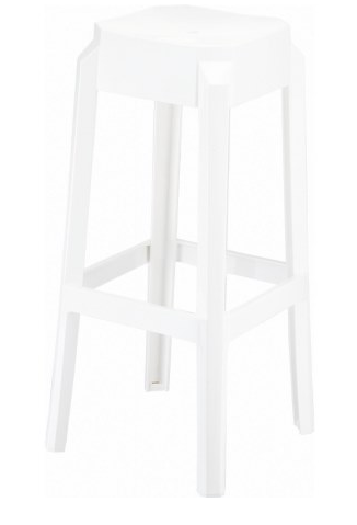 Compamia Fox Polycarbonate Bar Stool Glossy White ISP037-GWHI