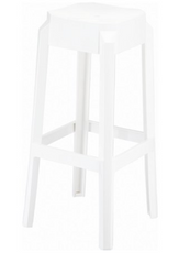Compamia Fox Polycarbonate Bar Stool Glossy White ISP037-GWHI - YourBarStoolStore + Chairs, Tables and Outdoor  - 1