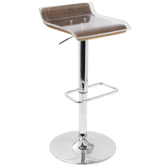2 - Tier Barstool - Walnut & Clear