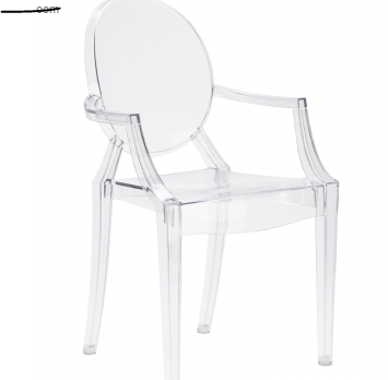 Burton Arm Chair In Clear (Set of 2)  EM-103-X2