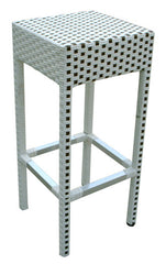 Aluminum Wicker Style Stool - YourBarStoolStore + Chairs, Tables and Outdoor