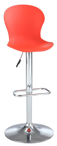 Chintaly Pneumatic Polypropylene Stool Red 3009-AS-RED