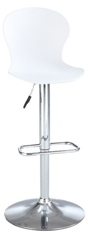 Chintaly Pneumatic Polypropylene Stool White 3009-AS-WHT