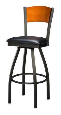 "Regal Seating 24"" Steel Slot Back Swivel Stool - Full Back 3316-fb"