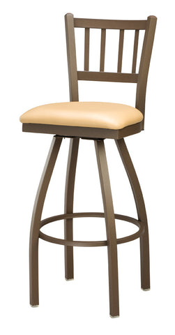 "Regal Seating 26"" Steel Jailhouse Back Swivel Stool 3509"