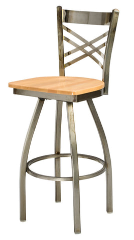 "Regal Seating 30"" Steel X Back Swivel Stool 3515"