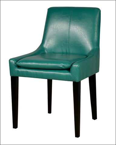 Chase KD Bonded Leather LB Chair, Turquoise