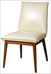Lara Bonded Leather Chair, Ivory - YourBarStoolStore + Chairs, Tables and Outdoor