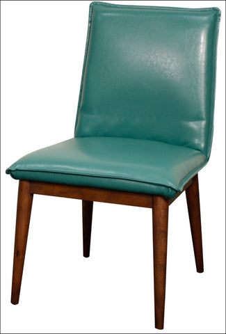 Lara Bonded Leather Chair, Turquoise