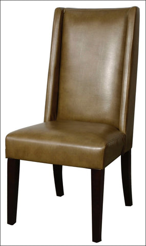 Lucas Bonded Leather KD Dining Chair, Molasses
