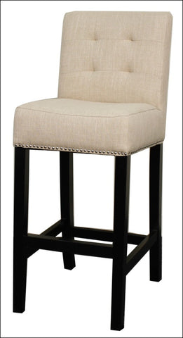 Scott Fabric Bar Stool, Flax