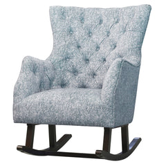 Abigail Fabric Tufted Rocking Chair - Quiver Indigo Blue