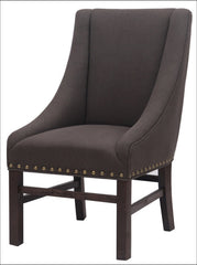 Aaron Sloping Arm Chair Dark Brown Legs, Bark - YourBarStoolStore + Chairs, Tables and Outdoor