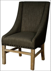 Aaron Sloping Arm Chair, Bark - YourBarStoolStore + Chairs, Tables and Outdoor