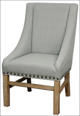 Aaron Sloping Arm Chair, Soft Blue - YourBarStoolStore + Chairs, Tables and Outdoor