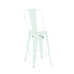 Dreux Matte Mint High Back Steel Counter Stool 26 Inch